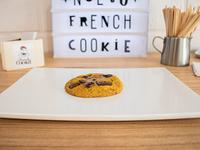 Cookie con mango, maracuyá y chocolate con leche