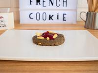 Cookie con frambuesa y chocolate blanco