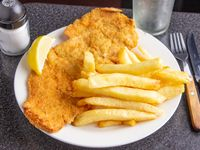 Mila de carne O pollo con fritas o ensalada