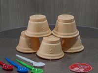 Vasitos de pasta (5 unidades)