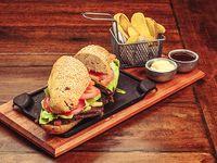Sándwich special steak