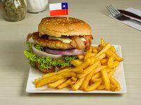 Combo pollo - Sándwich de pollo crunchy + gaseosa de 330 ml + ración de papas