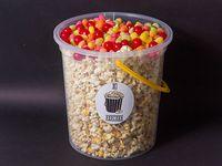 Balde de popcorn con cherry sour y jelly beans (250 gr)