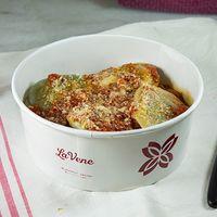 Sorrentinos de calabaza con salsa