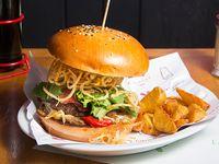 Kube beef burger