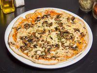 Pizza funghi cappero aglio