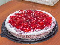 Torta mediana frutilla con crema pastelera