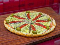 Pizza especial con anchoas (8 porciones)