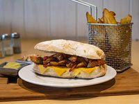 Sándwich fajita chicken + guarnición