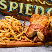 Pollo con papas fritas