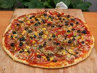 Pizza del jardín, mediana