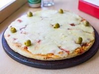 Pizza con muzzarella grande