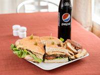Promoción - Tortugón (para 2 personas) + papas fritas + refresco línea Pepsi 1.5 L