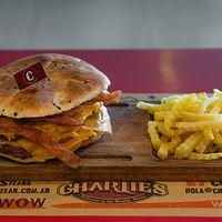 Hamburguesa doble con queso y bacon