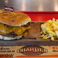 Hamburguesa triple con queso