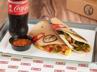 La Comba - 1 quesadilla + taco BBQ o fajita + salsa Chula + bebida soft