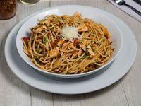 Spaguetti filetto con pollo
