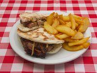 Sándwich árabe caliente