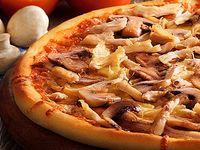 Pizza Personal Pollo y Champiñones