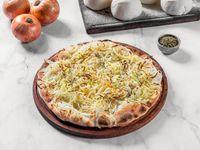Pizza fugazza con mozzarella