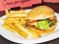 Hamburguesa vegetariana capresse
