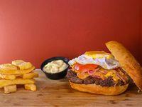 Combo - Hamburguesa duplex + papas fritas + salsa a elección