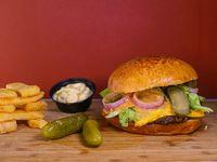 Combo - Hamburguesa green + papas fritas + salsa a elección