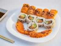 Tabla full salmón (12 piezas)