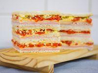 Sándwiches triples comunes (6 unidades/ 1 sabor)