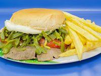 Combo - Sándwich chacarero + papas fritas + bebida 350 ml