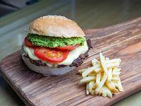 Mix burger italiana luco con papas fritas