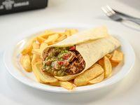 Combo 7 - Burrito + papas fritas + refresco