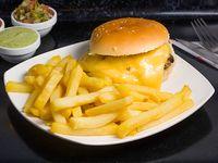 Sándwich barros luco + papas fritas individual + bebida 350 ml