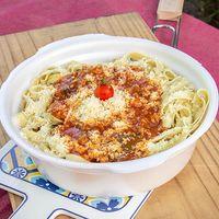 Fetuccini con salsa