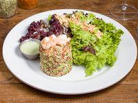 Ensalada de quinoa roja y blanca
