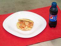 Promoción - Arepa + gaseosa línea Pepsi 240 ml