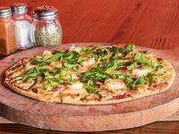 Pizza de camarón y tocino