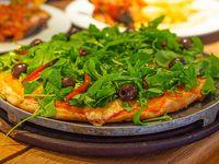 Pizza de hojas verdes
