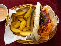 Promo - Kebab o shawarma normal + papas fritas rústicas