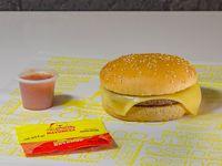 Solo hamburguesa Queso