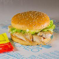 Sándwich de filetes de pollo ahumado