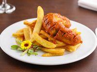 Promo - Currywurst al plato con guarnición + refresco línea Coca-Cola 288 ml