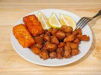 Chicharrón con limón y queso frito (servicio)