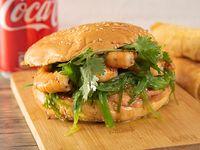 Promo 4 - Sándwich Seatle + tequeños (3 unidades) + bebida 350 ml