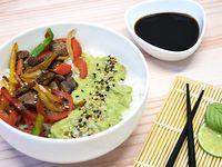 Chirashi Salad - Lomo, mix verduras y guacamole
