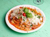 Lasagna sale con S. Bologñesa y S.Blanca