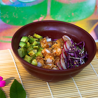 Chirashi sushi langostinos