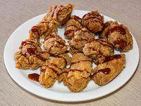 Combo de alitas bbq - 10 alitas de pollo bbq, 2 acompañamientos a elección