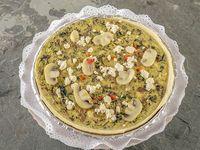 Quiche de champignones, espinaca, ricota y pimentón