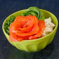 Gohan con salmón